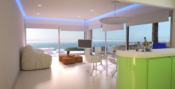 Luxury apartments with sea views