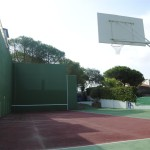 villa with basketball court